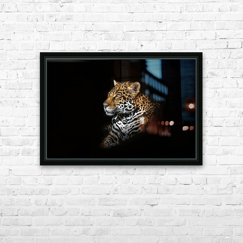 Jaguar Portrait HD Sublimation Metal print with Decorating Float Frame (BOX)