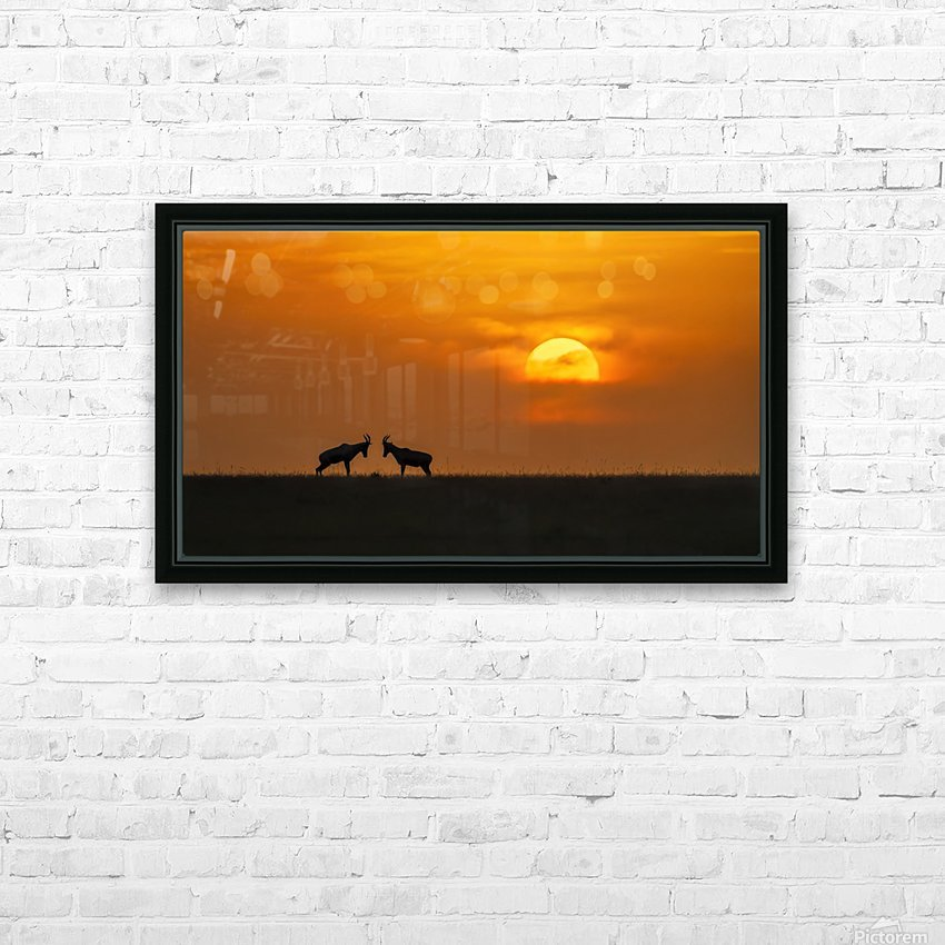 At The Sunset HD Sublimation Metal print with Decorating Float Frame (BOX)