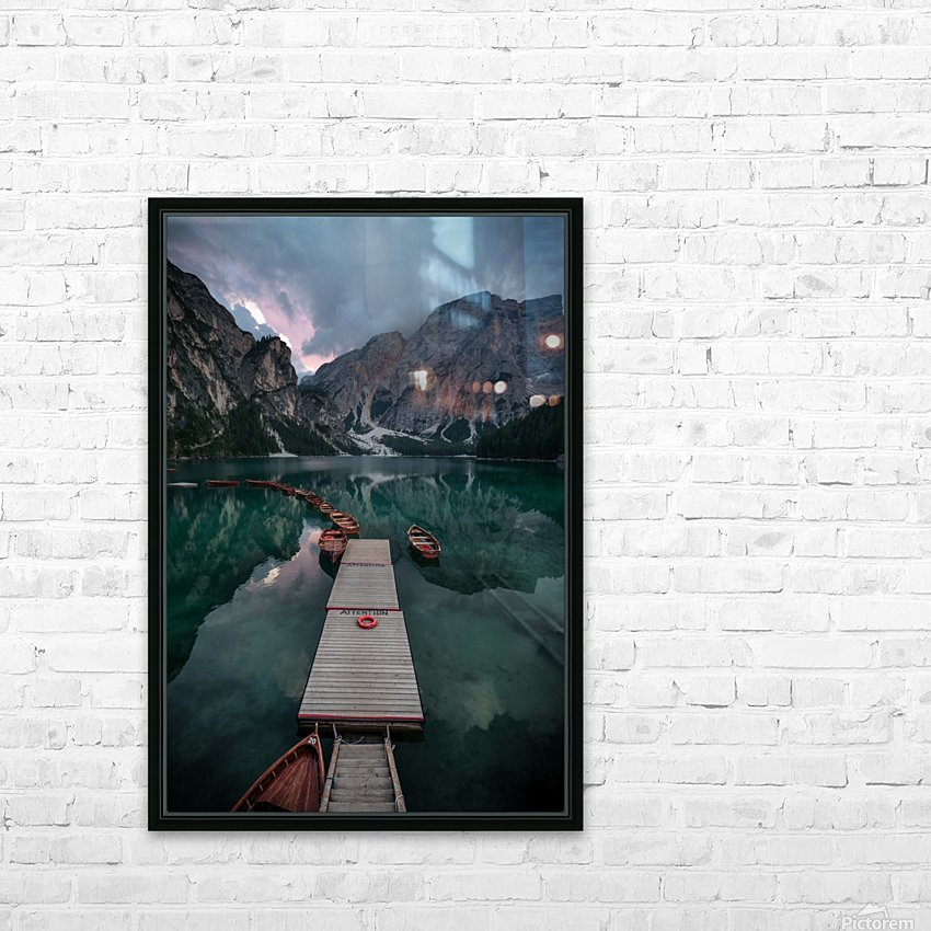 Braies reflections HD Sublimation Metal print with Decorating Float Frame (BOX)