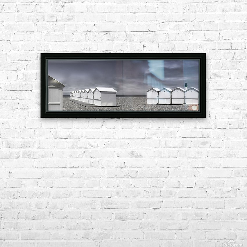 cabins beach HD Sublimation Metal print with Decorating Float Frame (BOX)
