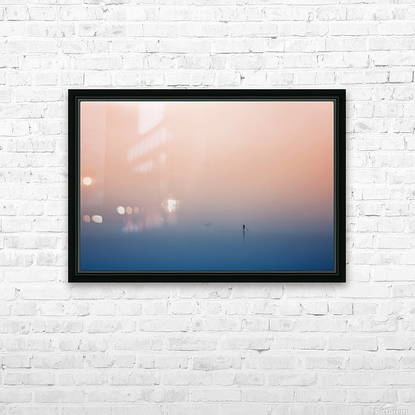 stand up paddling HD Sublimation Metal print with Decorating Float Frame (BOX)