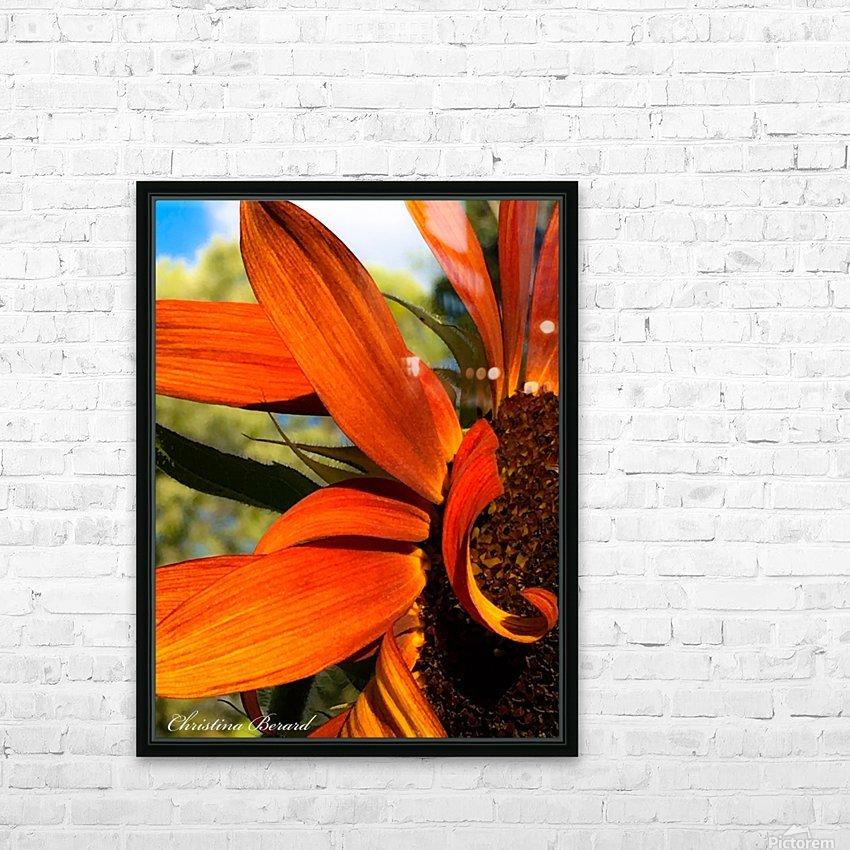 Sunflower  HD sublimation métal imprimé avec décoration flotteur cadre (boîte)
