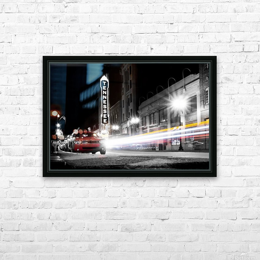Tennessee Theater Monochrome HD Sublimation Metal print with Decorating Float Frame (BOX)