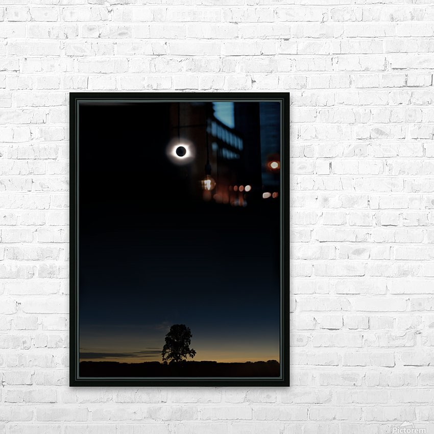 Eclipse 2017 HD Sublimation Metal print with Decorating Float Frame (BOX)