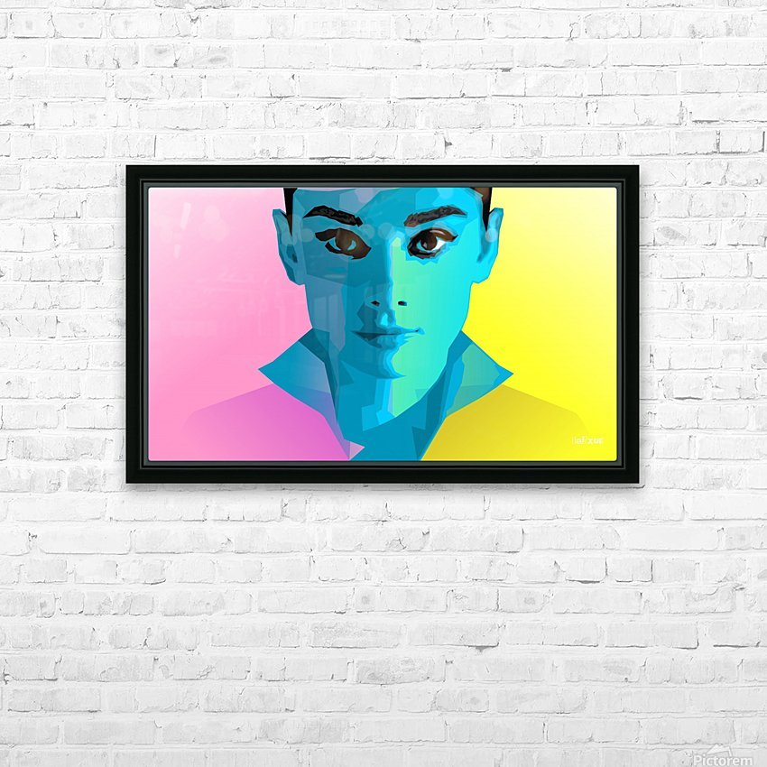 Pop Art Audrey Portrait HD Sublimation Metal print with Decorating Float Frame (BOX)