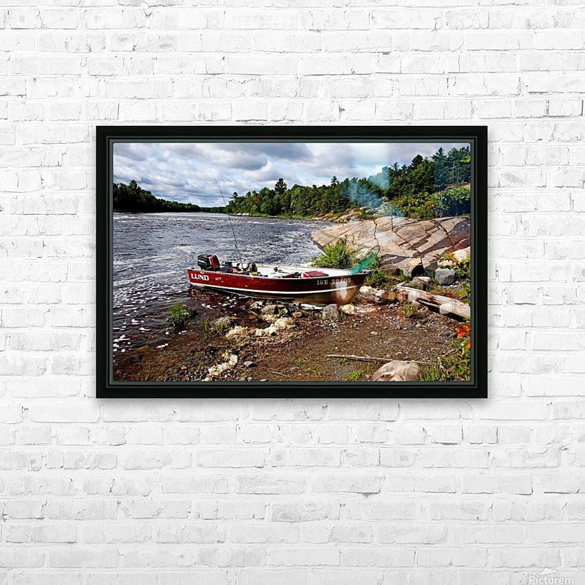 Fishing And Exploring HD Sublimation Metal print with Decorating Float Frame (BOX)