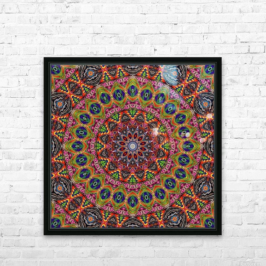Cherga Mandala I HD Sublimation Metal print with Decorating Float Frame (BOX)