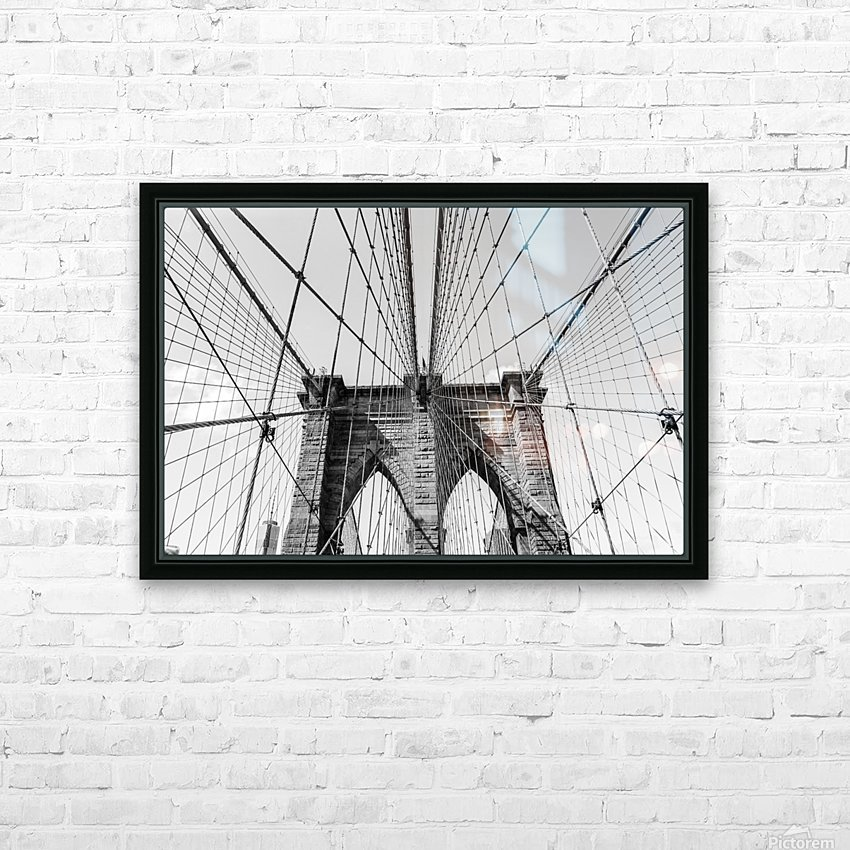 Brooklyn Bridge HD Sublimation Metal print with Decorating Float Frame (BOX)