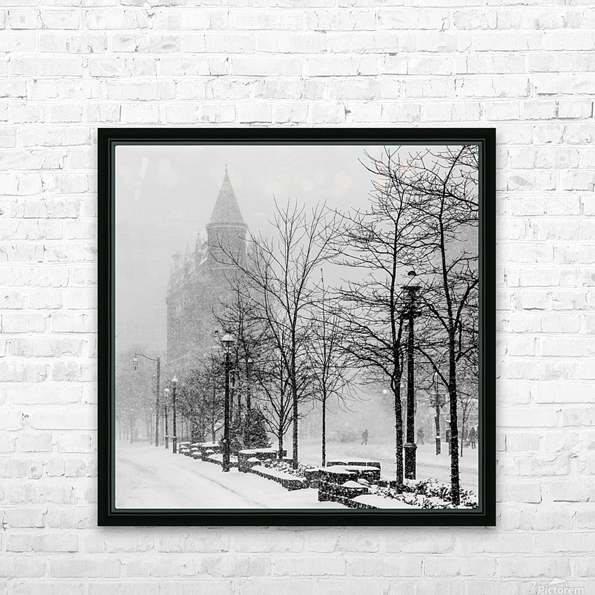 Gooderham in Winter HD Sublimation Metal print with Decorating Float Frame (BOX)