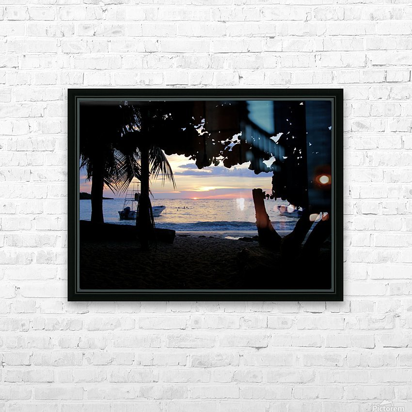 Sunset16 HD Sublimation Metal print with Decorating Float Frame (BOX)