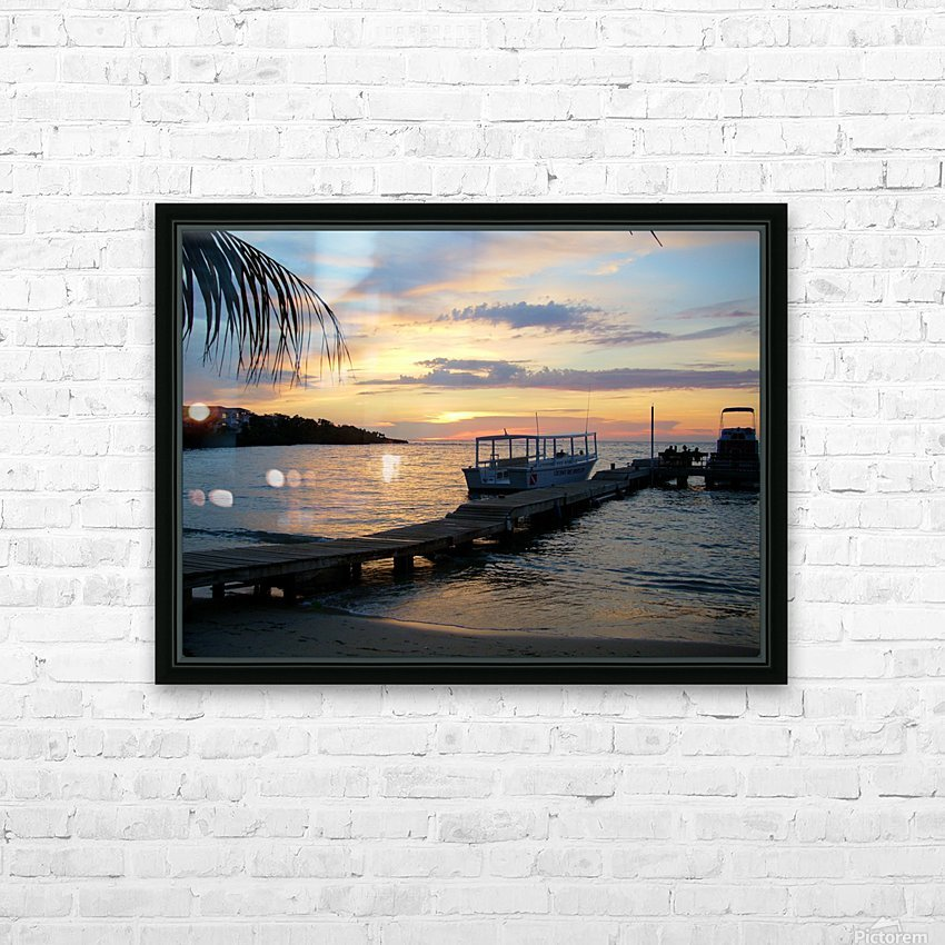 Sunset15 HD Sublimation Metal print with Decorating Float Frame (BOX)