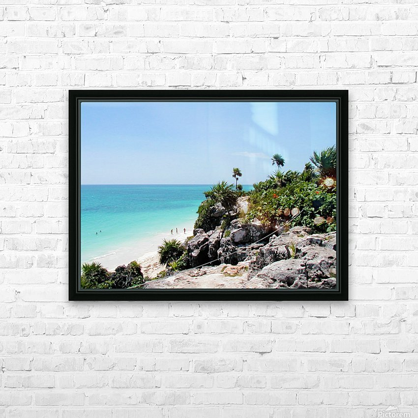 Tropical10 HD Sublimation Metal print with Decorating Float Frame (BOX)