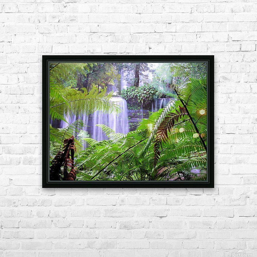 Waterfall3 HD Sublimation Metal print with Decorating Float Frame (BOX)