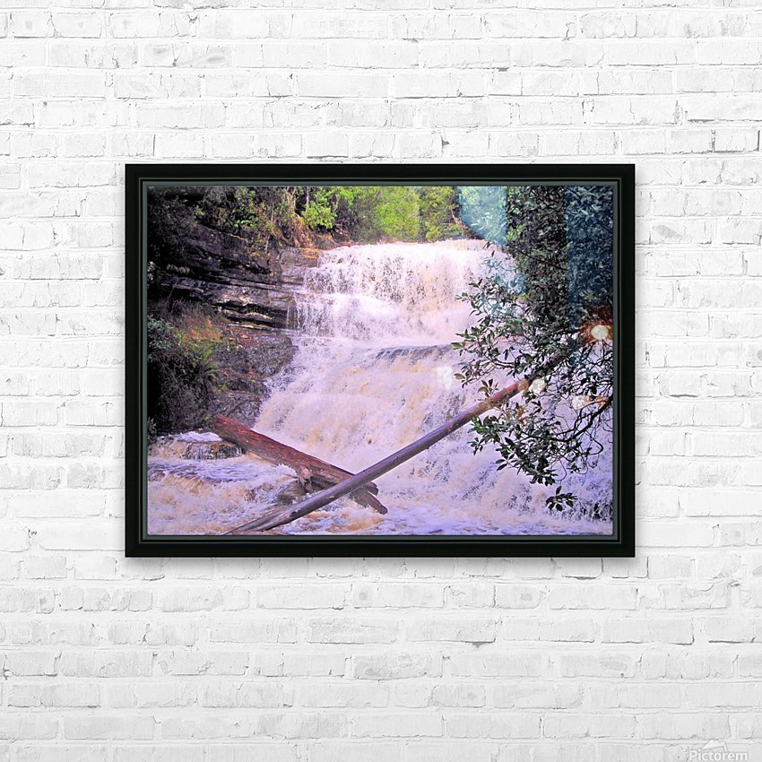 Waterfall8 HD Sublimation Metal print with Decorating Float Frame (BOX)