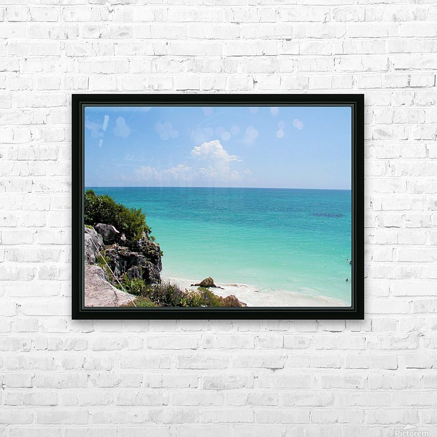 Tropical8 HD Sublimation Metal print with Decorating Float Frame (BOX)