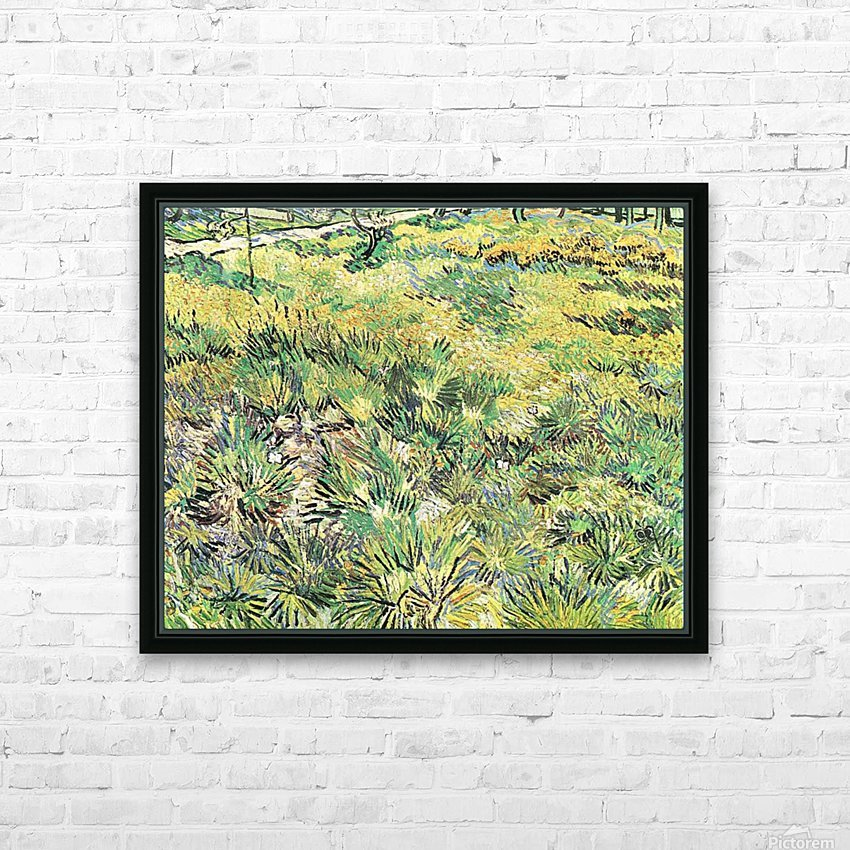 Meadow in the Garden of Saint-Paul Hospital by Van Gogh HD Sublimation Metal print with Decorating Float Frame (BOX)