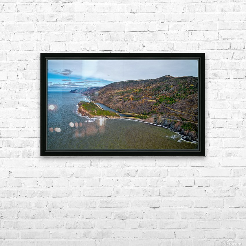 Cabot Trail HD Sublimation Metal print with Decorating Float Frame (BOX)