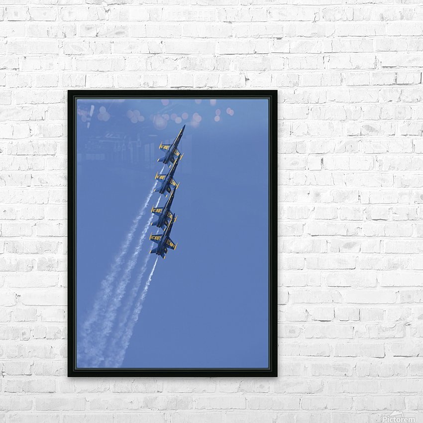 U.S. Navy flight demonstration squadron the Blue Angels. HD Sublimation Metal print with Decorating Float Frame (BOX)