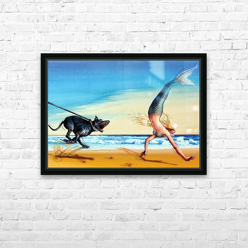 Mermaid by Krzysztof Grzondziel HD Sublimation Metal print with Decorating Float Frame (BOX)