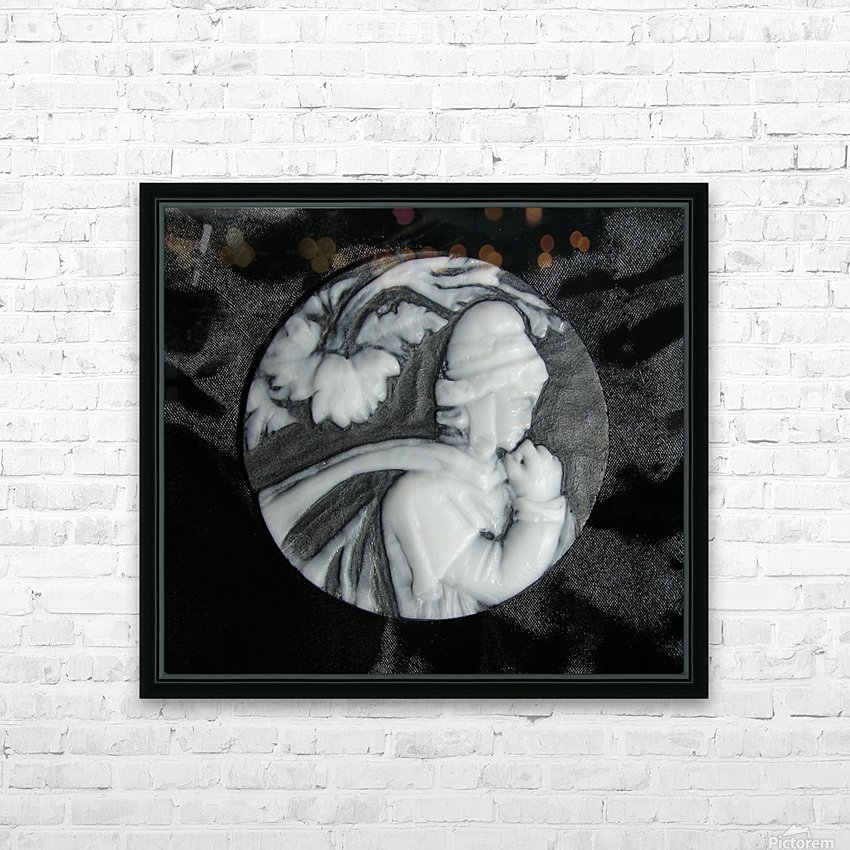 Cameo glass disc  HD Sublimation Metal print with Decorating Float Frame (BOX)