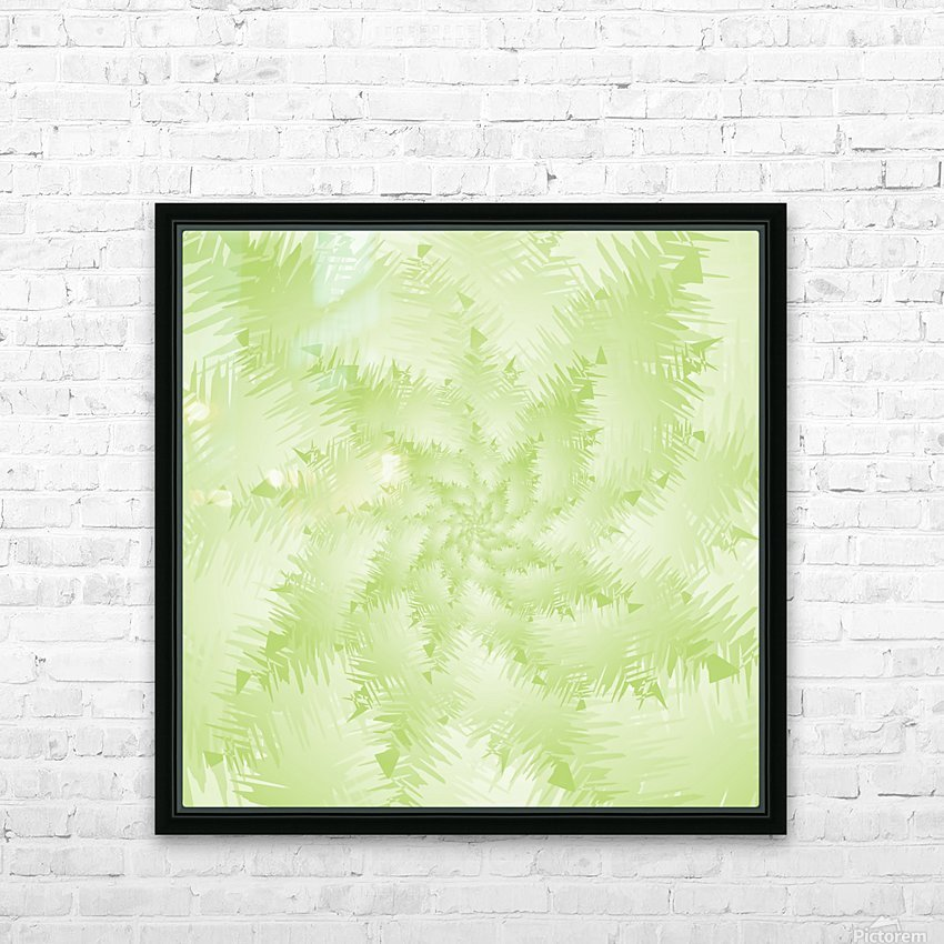 Green Snowflake HD Sublimation Metal print with Decorating Float Frame (BOX)