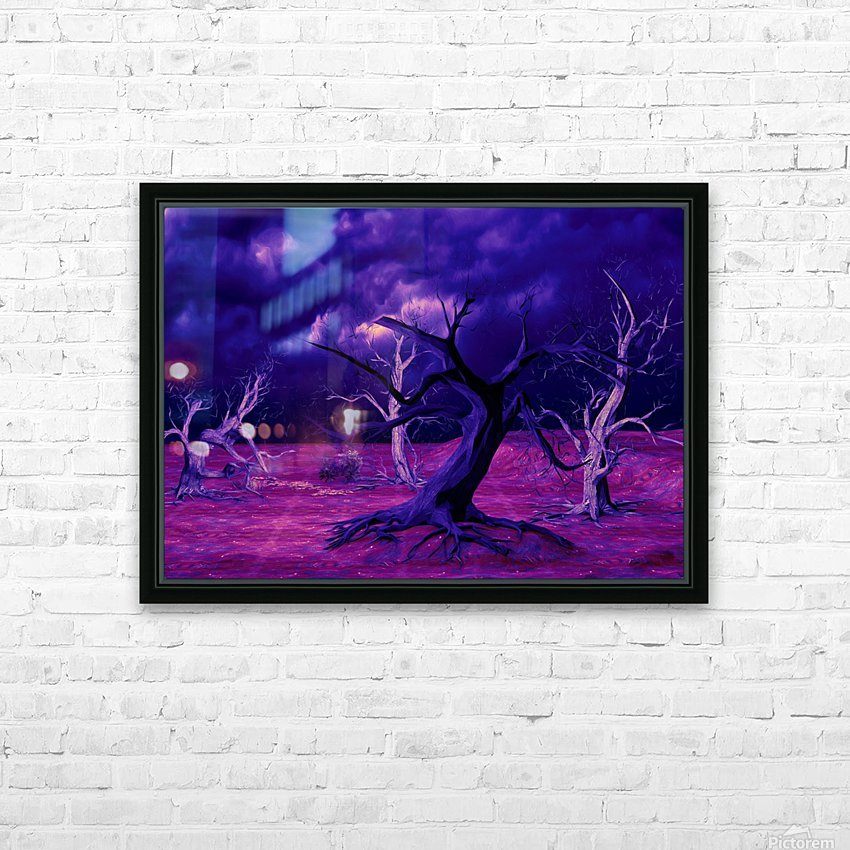 PURPLE FOREST HD Sublimation Metal print with Decorating Float Frame (BOX)
