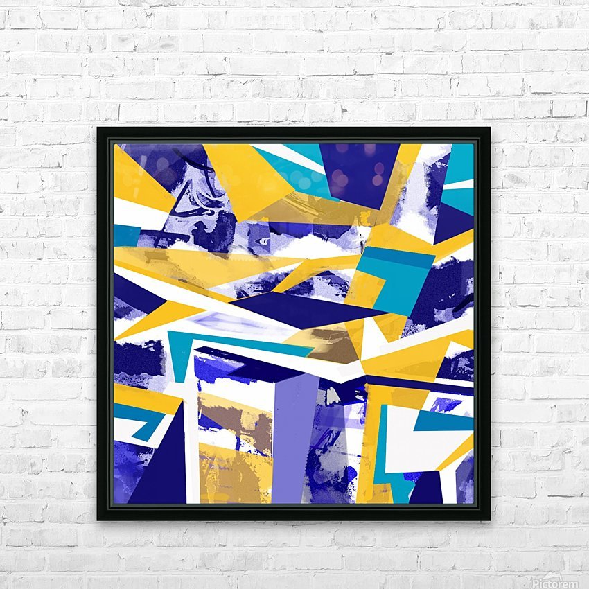 yellowblue HD Sublimation Metal print with Decorating Float Frame (BOX)