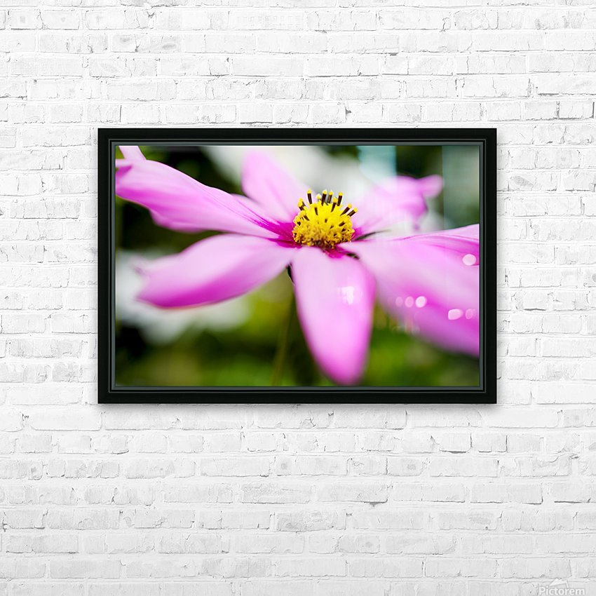 Pink and Flowing HD Sublimation Metal print with Decorating Float Frame (BOX)