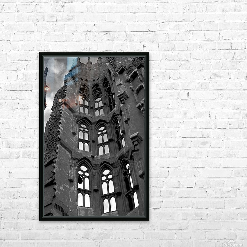 The Sagrada Familia  HD Sublimation Metal print with Decorating Float Frame (BOX)