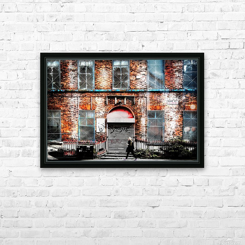 Liverpool City Street HD Sublimation Metal print with Decorating Float Frame (BOX)