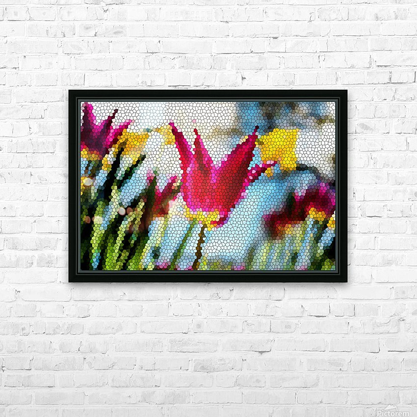 Tulip Mosaic HD Sublimation Metal print with Decorating Float Frame (BOX)