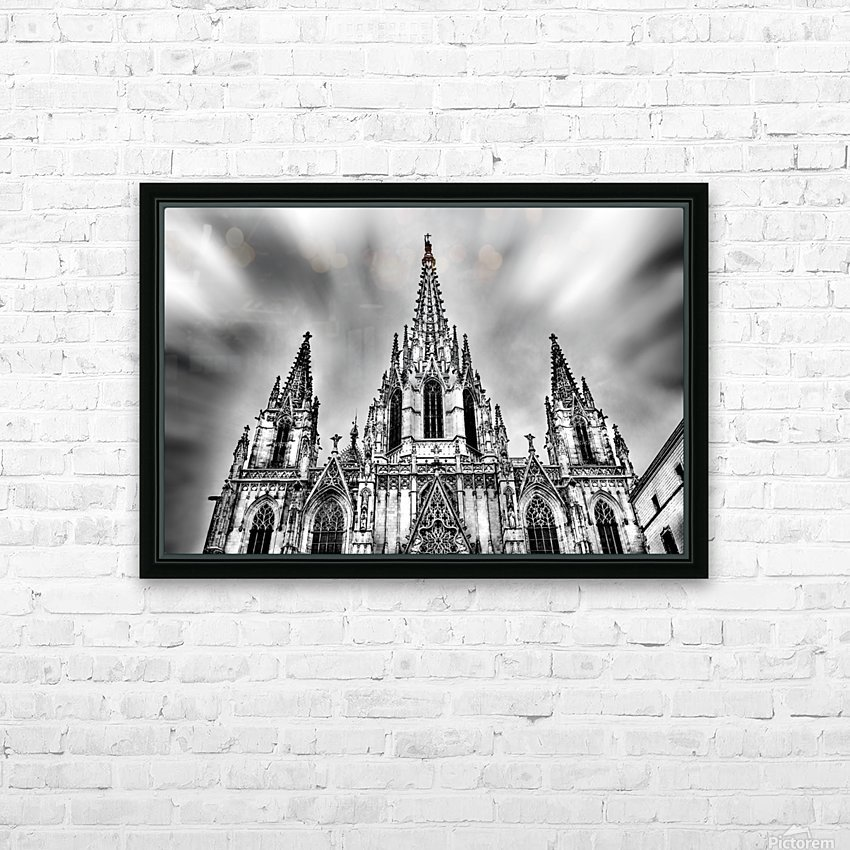 Barcelona Cathedral HD Sublimation Metal print with Decorating Float Frame (BOX)