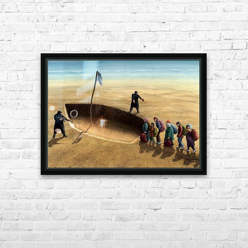 Last emigration by Krzysztof Grzondziel HD Sublimation Metal print with Decorating Float Frame (BOX)