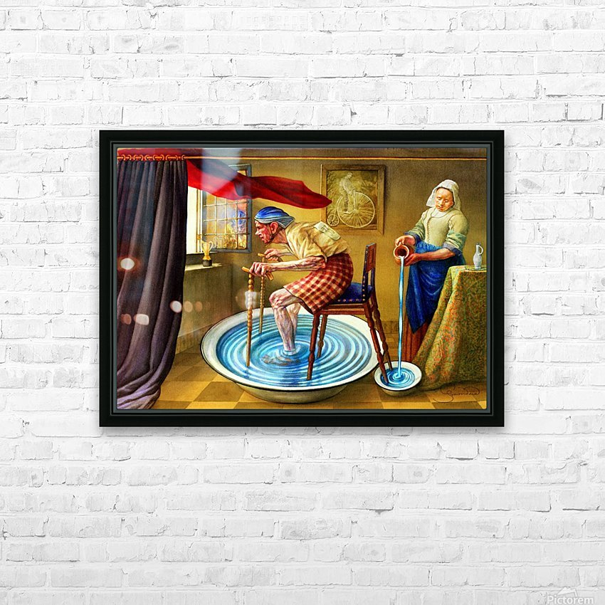 Cycling by Krzysztof Grzondziel HD Sublimation Metal print with Decorating Float Frame (BOX)