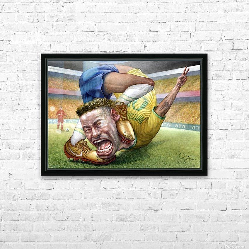 Neymar by Krzysztof Grzondziel HD Sublimation Metal print with Decorating Float Frame (BOX)