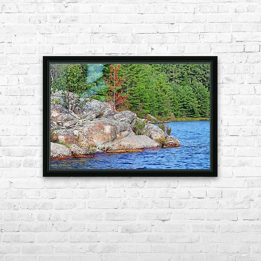 Shawanaga Rock Formation HD Sublimation Metal print with Decorating Float Frame (BOX)