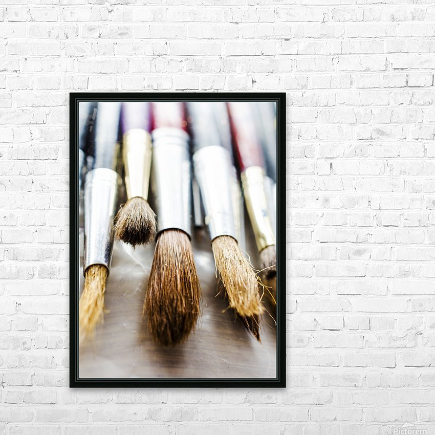The Artists Brushes HD Sublimation Metal print with Decorating Float Frame (BOX)