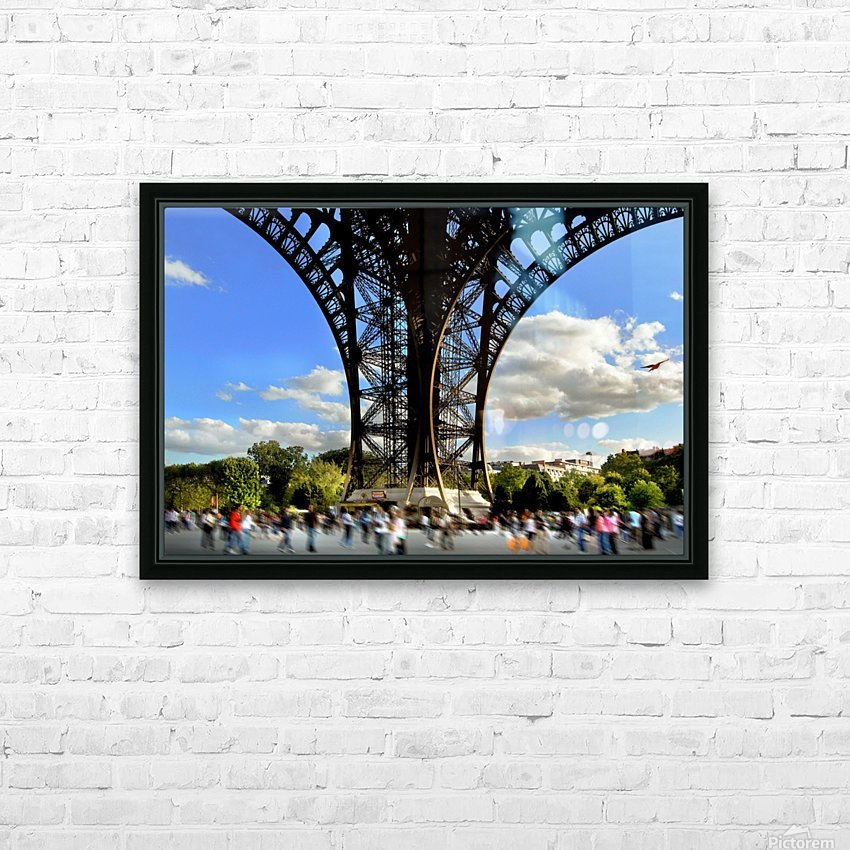Life under the Eiffel Tower HD Sublimation Metal print with Decorating Float Frame (BOX)
