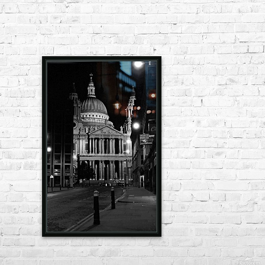 St. Paul's Cathedral London HD Sublimation Metal print with Decorating Float Frame (BOX)