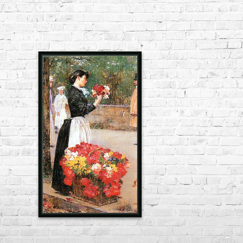 Flower girl by Hassam HD Sublimation Metal print with Decorating Float Frame (BOX)
