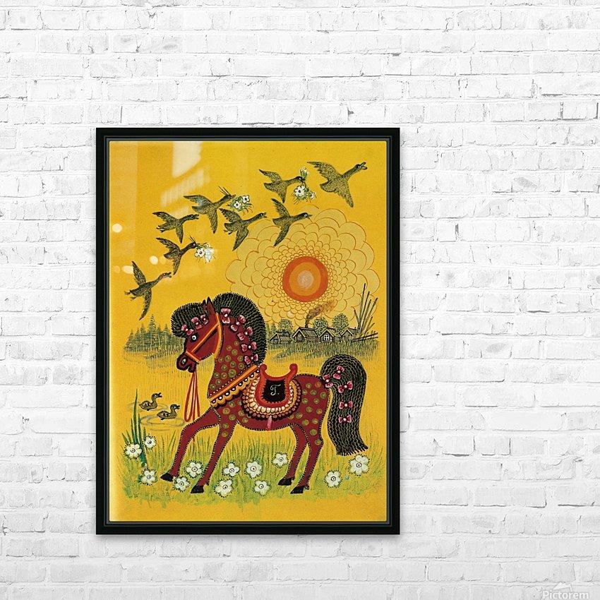 Vasnetsov horse HD Sublimation Metal print with Decorating Float Frame (BOX)