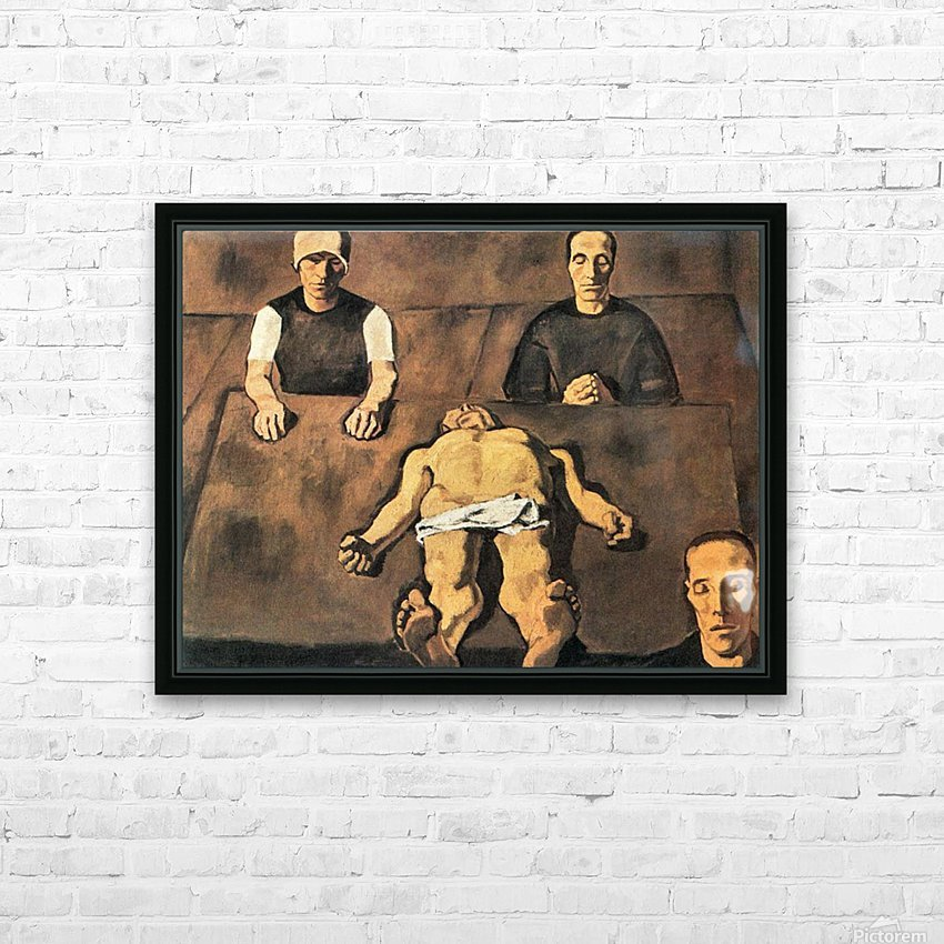 Piety by Albin Egger-Lienz HD Sublimation Metal print with Decorating Float Frame (BOX)