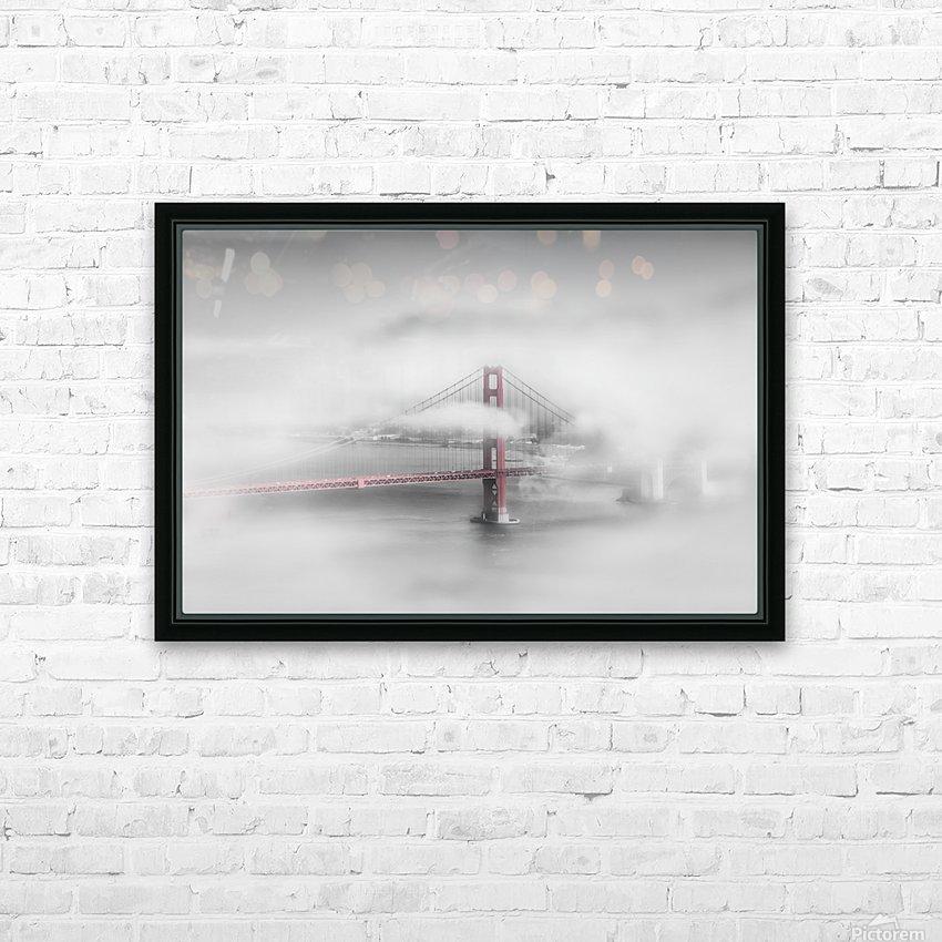 Foggy Golden Gate Bridge   colorkey HD Sublimation Metal print with Decorating Float Frame (BOX)