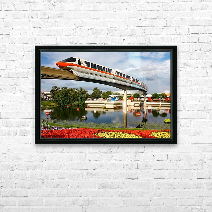 EPCOT Monorail HD Sublimation Metal print with Decorating Float Frame (BOX)
