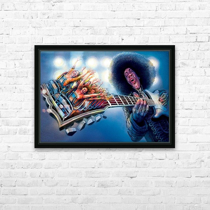 Jimi Hendrix by Krzysztof Grzondziel HD Sublimation Metal print with Decorating Float Frame (BOX)