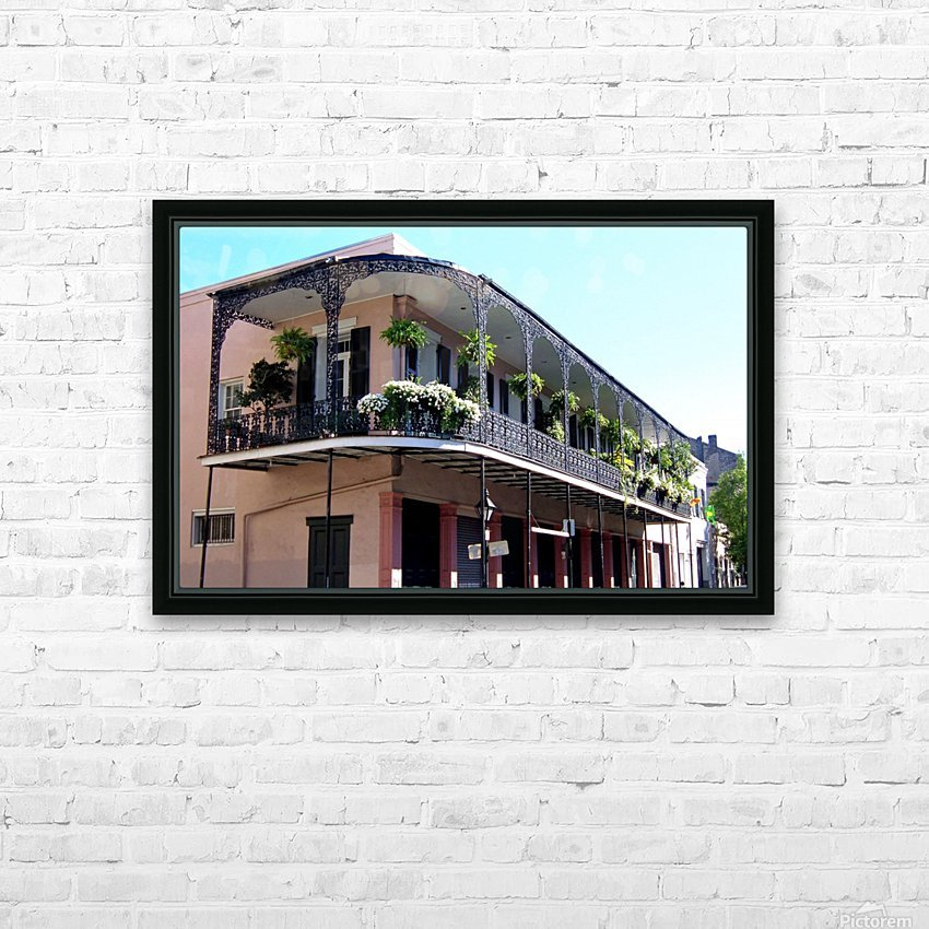 New Orleans Balcony HD Sublimation Metal print with Decorating Float Frame (BOX)