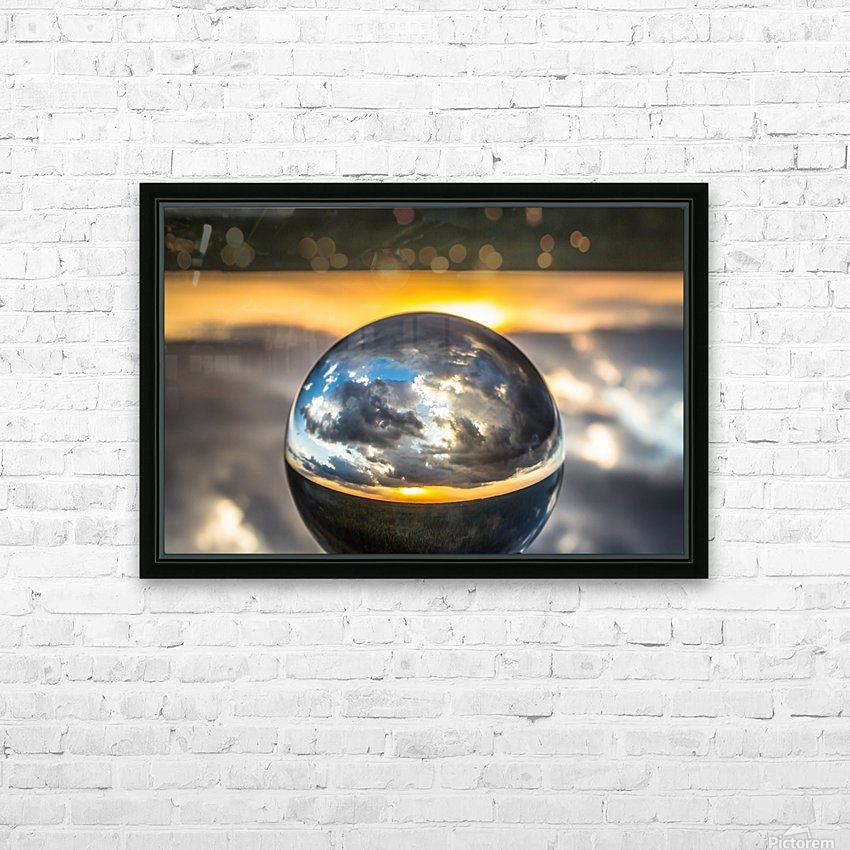 Lens Ball5 HD Sublimation Metal print with Decorating Float Frame (BOX)