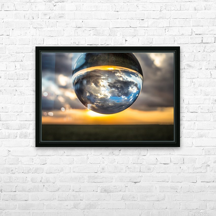 Lens Ball3 HD Sublimation Metal print with Decorating Float Frame (BOX)
