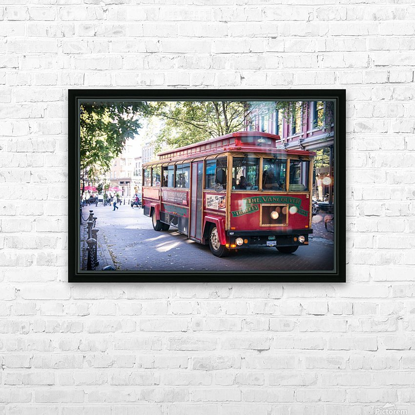 Vancouver Trolly HD Sublimation Metal print with Decorating Float Frame (BOX)