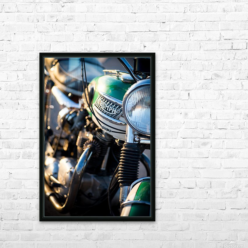1964 Bike HD Sublimation Metal print with Decorating Float Frame (BOX)